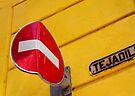 Bent no entry sign, Havana, Cuba by David Carton