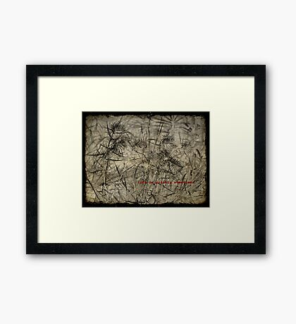 life is prickly sometimes Framed Print