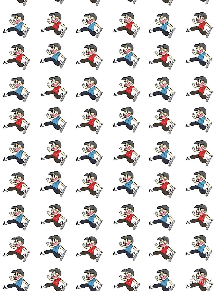 TF2 Red und Blu Scout Muster und Stickerbogen von DarkSkittyPower