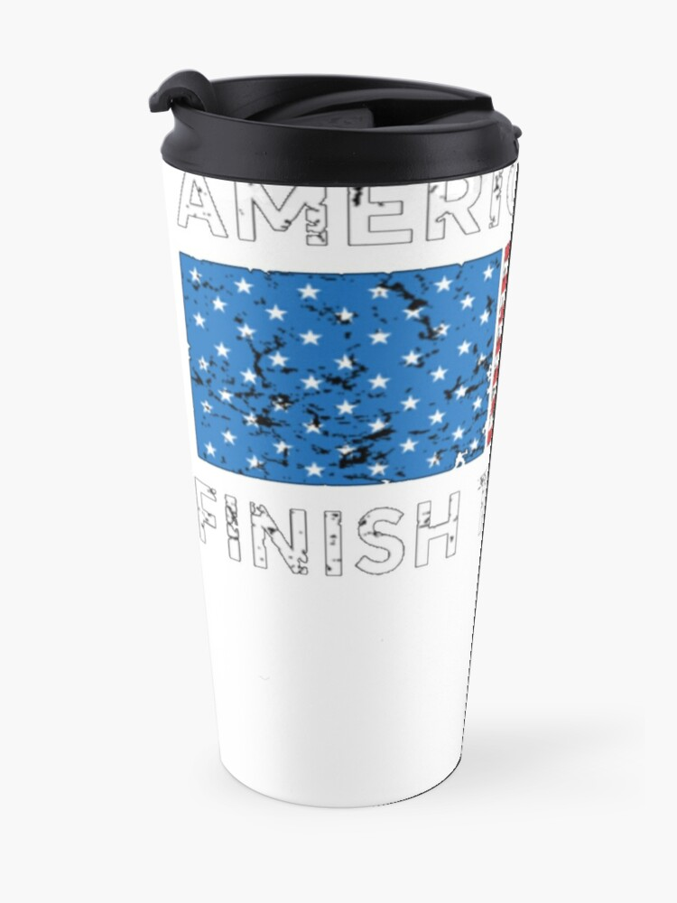 Alternate view of Donald trump, Keep America Safe, Finish the Wall. Travel Mug