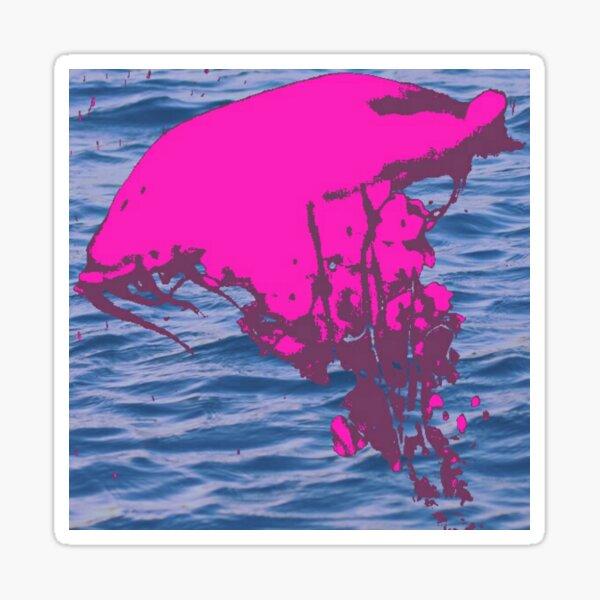 Pink jellyfish in the ocean Sticker