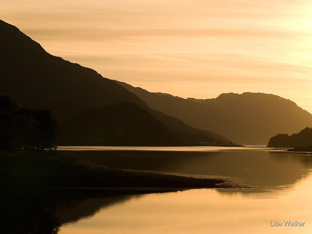 Sunset over the Scottish Highlands by Lisa Walker