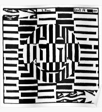 Smiley Face Illustion Maze Poster