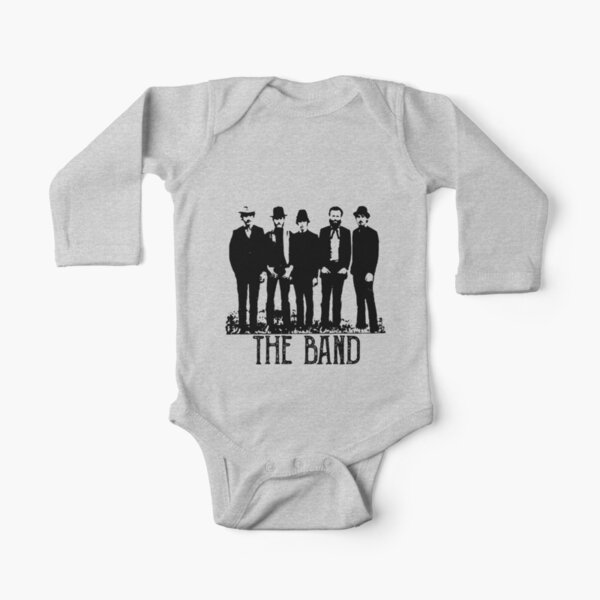 The Band Vintage Retro Concert  Long Sleeve Baby One-Piece