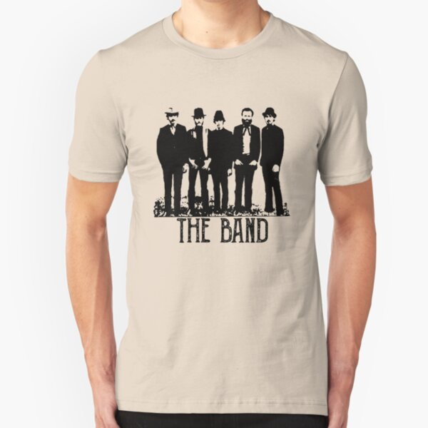 The Band Vintage Retro Concert  Slim Fit T-Shirt