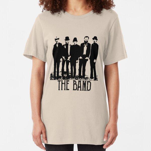 The Band Vintage Retro Concert  Slim Fit T-Shirt