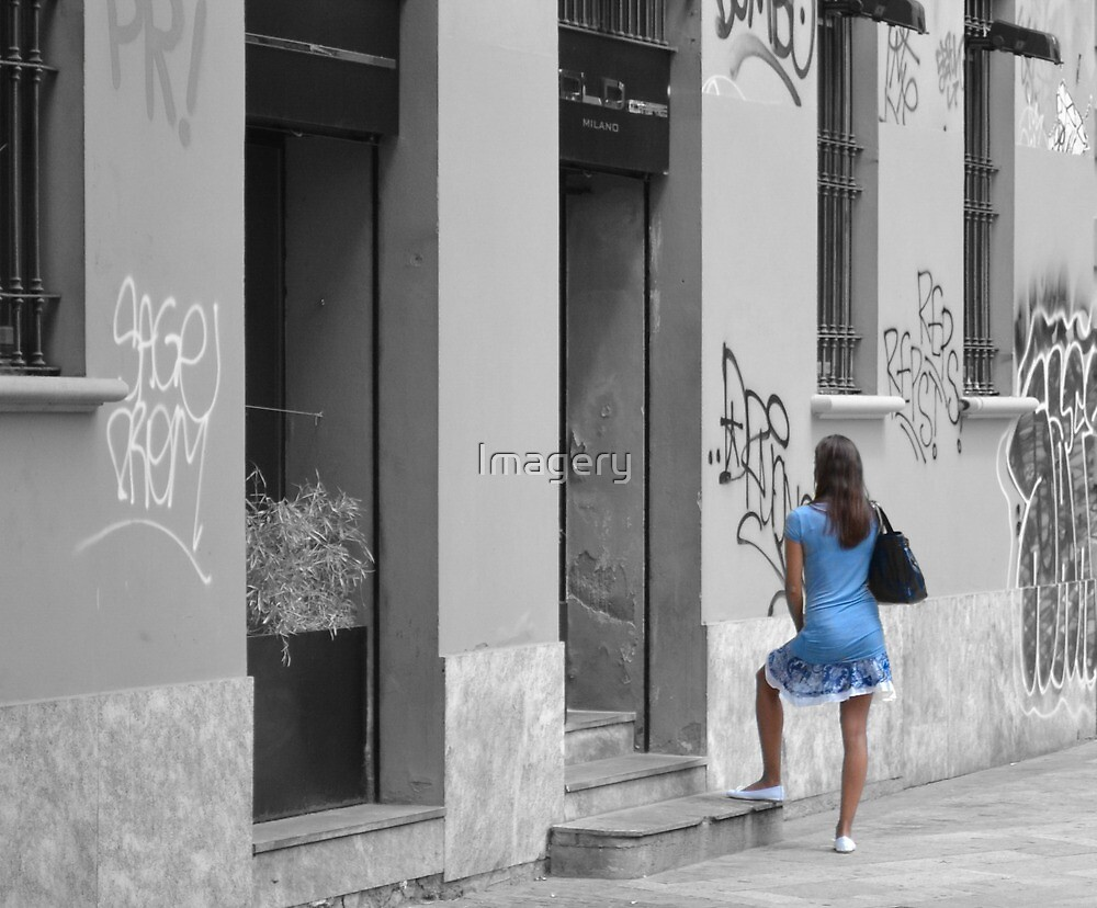 The Girl in The Blue Dress by Imagery