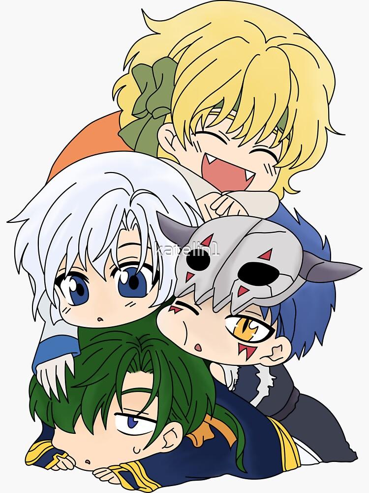 The Four Dragon Warriors Chibi by katelin1
