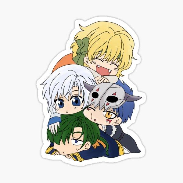 The Four Dragon Warriors Chibi Sticker