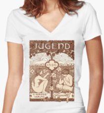 Jugendstil Women's Fitted V-Neck T-Shirt