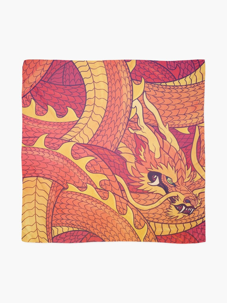 Alternate view of Coiled Dragon Scarf