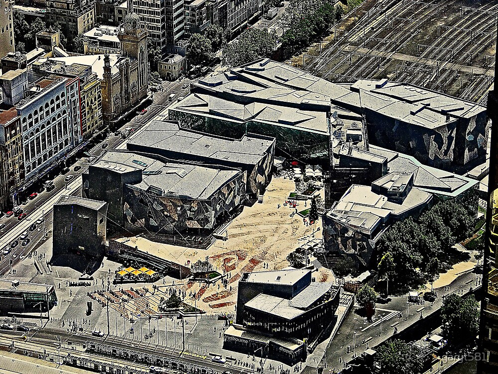 Fed Square From On High by garyt581