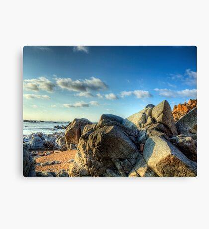 Rocks Near Torgis - Alderney Canvas Print