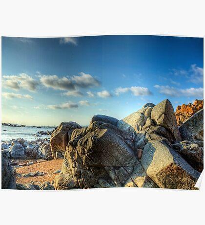Rocks Near Torgis - Alderney Poster
