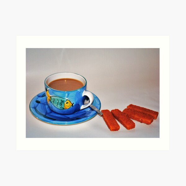 'Tea and fish fingers' Art Print
