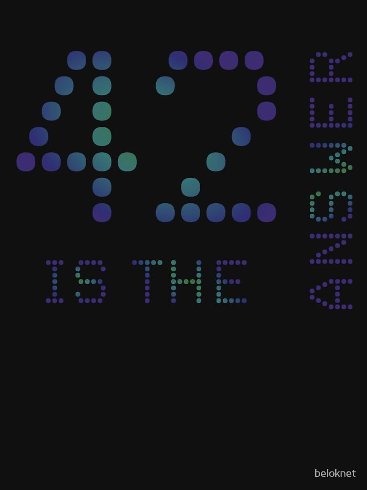 42 is the Answer by beloknet