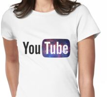 Cosmic YouTube Logo Womens Fitted T-Shirt