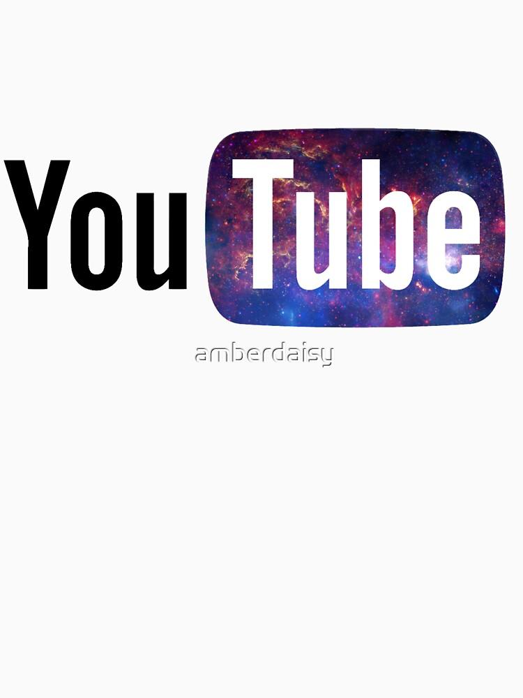 "Youtube Logo: ""Cosmic YouTube Logo"" Unisex T-Shirt By Amberdaisy"