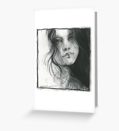 charcoal drawing for print Greeting Card