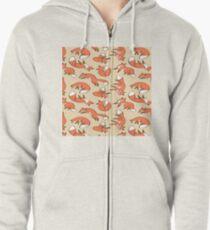 fox Zipped Hoodie