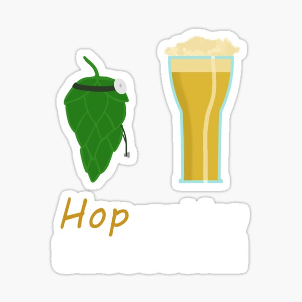 Hoperation Successful - Hops Into Beer Sticker