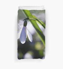 Snowdrop: Spring is here! Duvet Cover