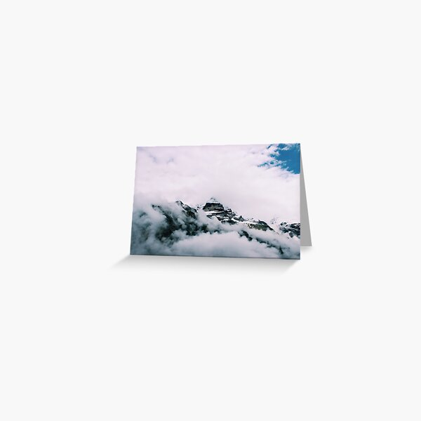 """""""Look!"""" Snow-Capped Mountains Greeting Card"""