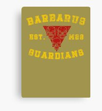 Sports Team: The Barbarus Guardians Canvas Print