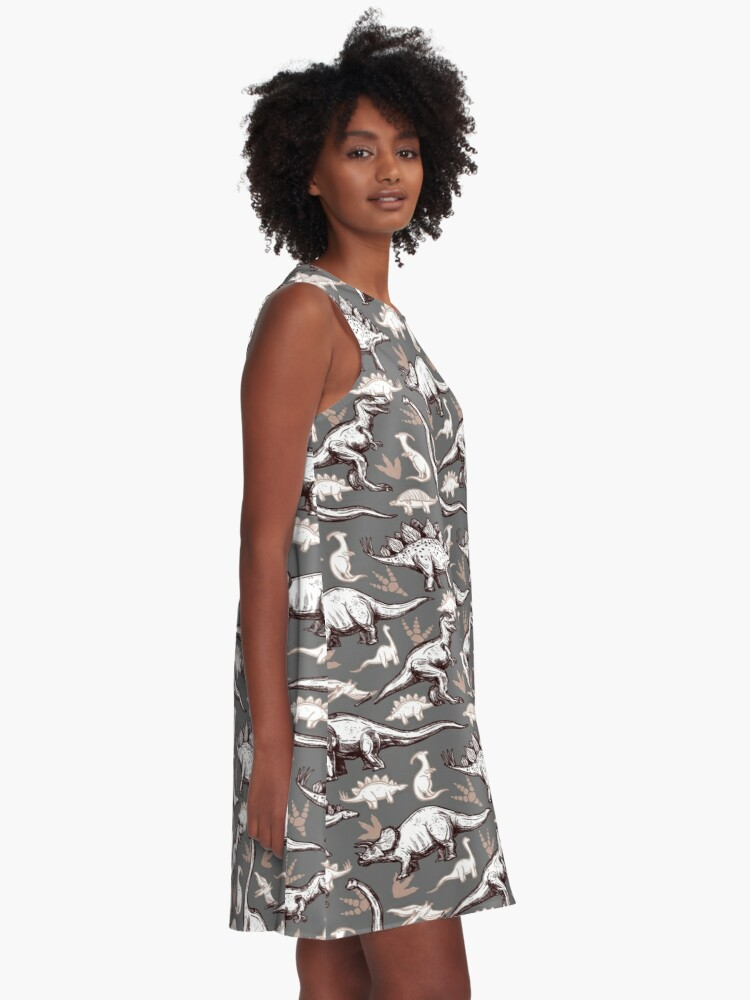 Alternate view of Dinosaurs!  A-Line Dress