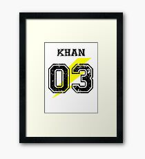Team Captain: Khan Framed Print