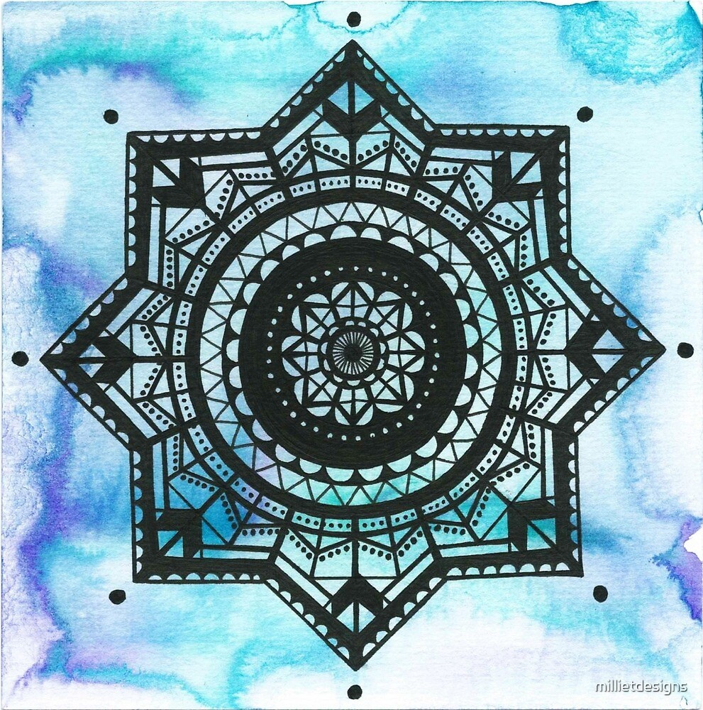 Geometric Mandala on Ink by millietdesigns