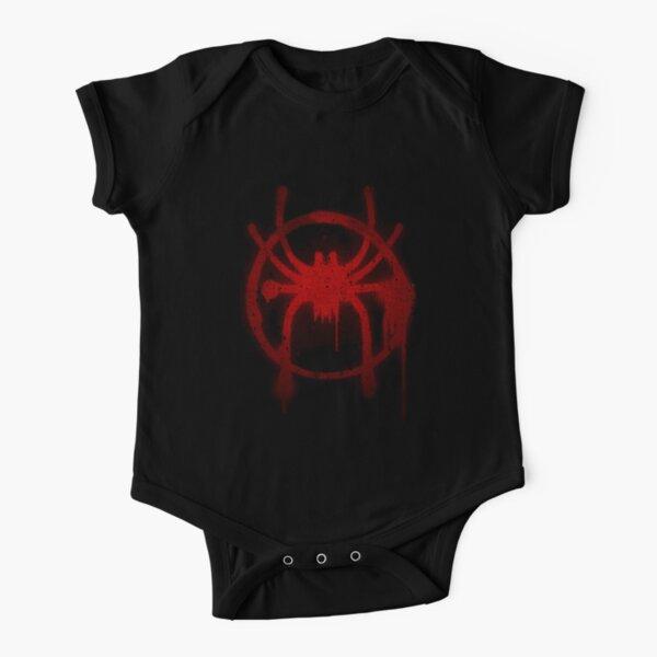 Miles Morales Spider Symbol Short Sleeve Baby One-Piece