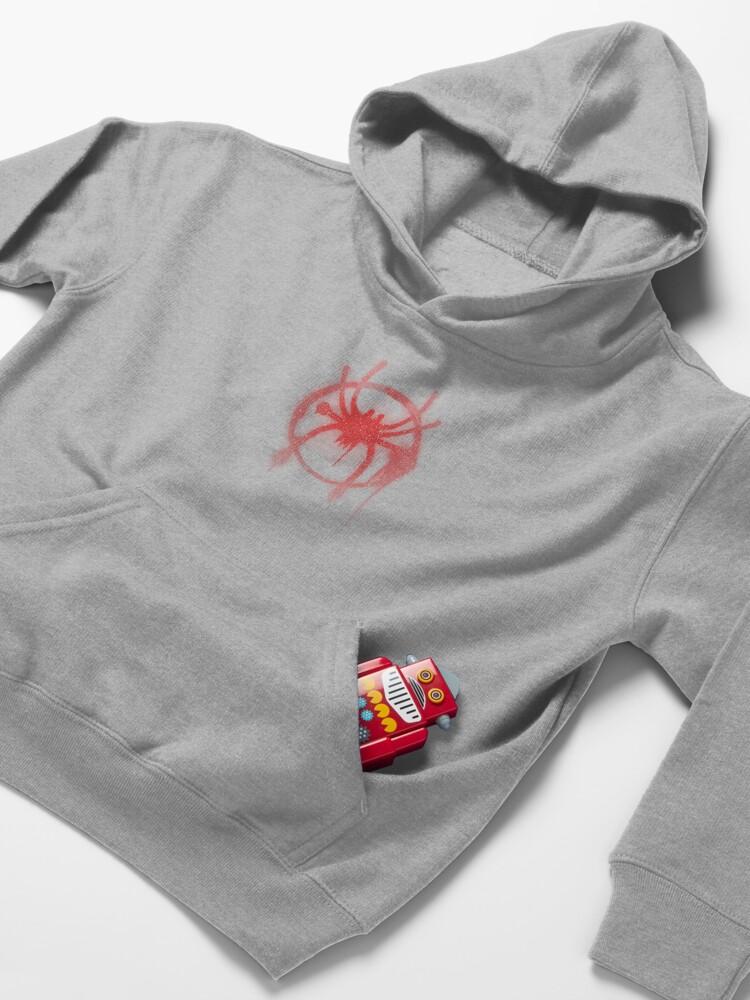 Alternate view of Miles Morales Spider Symbol Kids Pullover Hoodie