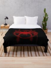 Miles Morales Spider Symbol Throw Blanket