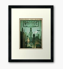 Rapture Art-Deco Travel Poster Framed Print