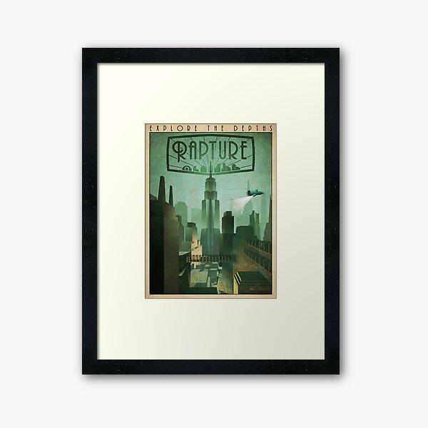 Rapture Art-Deco Travel Poster Framed Art Print