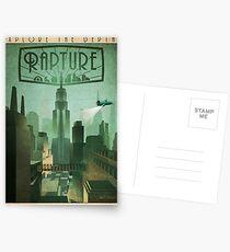 Rapture Art-Deco Travel Poster Postcards