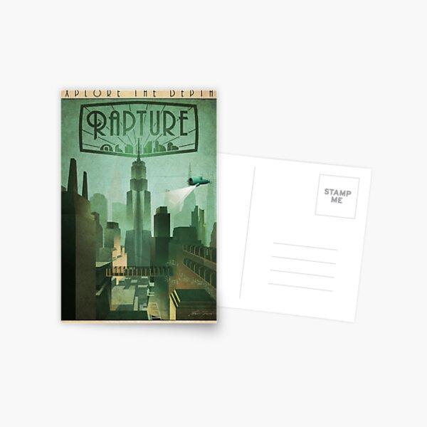 Rapture Art-Deco Travel Poster Postcard