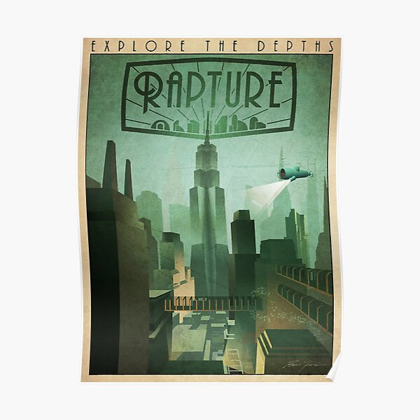 Rapture Art-Deco Travel Poster Poster