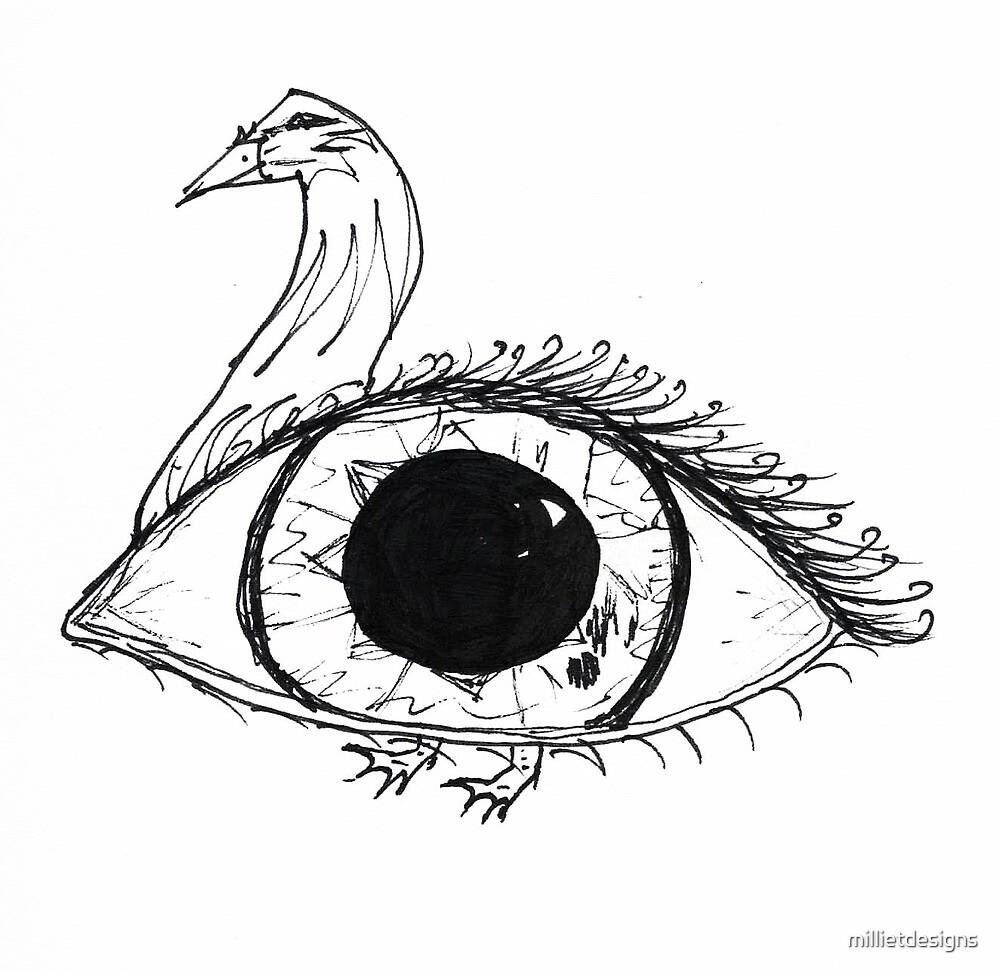 Eye/Duck Hybrid by millietdesigns