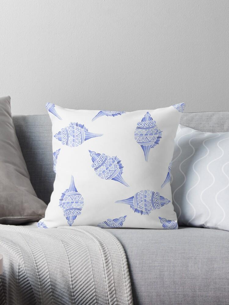 Seashell vector seamless summer pattern by julkapulka