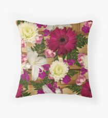 Basket of Flowers for Jackie Throw Pillow