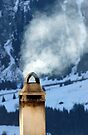 Chimney in the Alps, Switzerland by David Carton