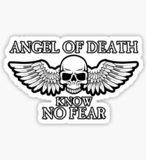 Angel of Death Know No Fear Sticker