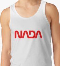 NADA Flat Earth Stickers Old School Parody Logo Men's Tank Top