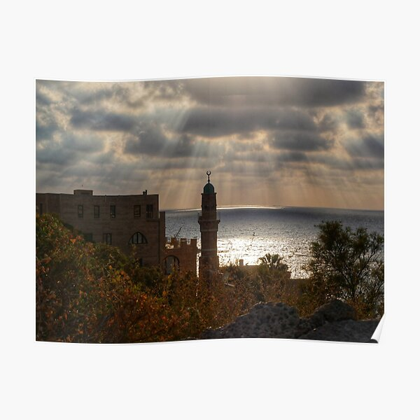 Mosque By The Sea Poster