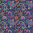 Retro Paisley Pattern by GraphicAllusion