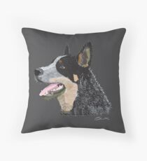 Australian Blue Heeler Throw Pillow
