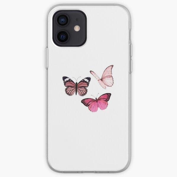 Pink Butterfly Aufkleber * ästhetisch * iPhone Flexible Hülle