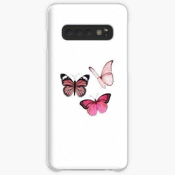 Pink Butterfly stickers *aesthetic* Samsung Galaxy Snap Case